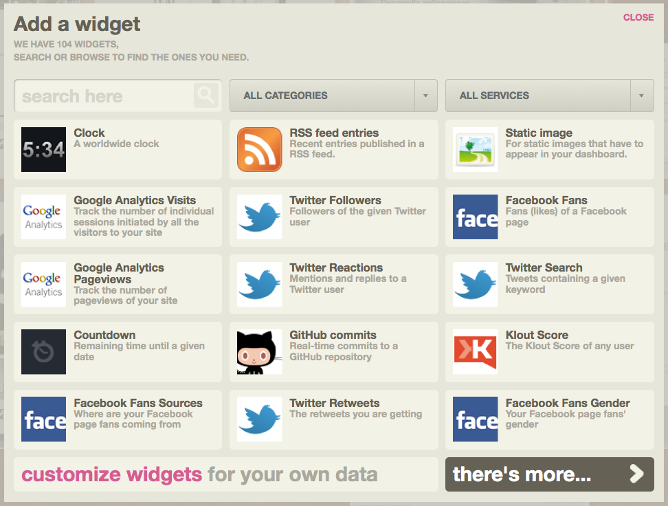 widgets-ducskboard