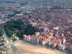 Vista de Gijón